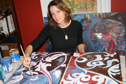 Whitney in her home studio.