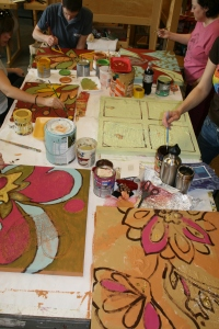 Whitney's Abstract Painting Class!