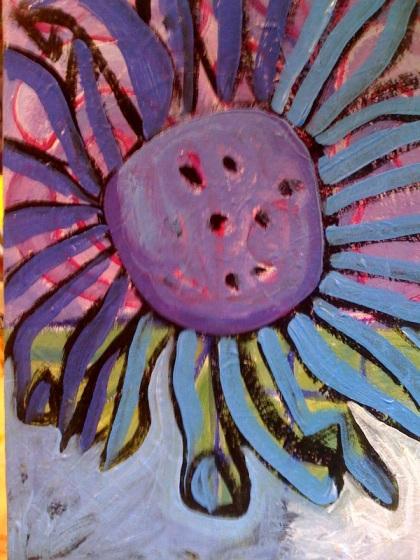 my sunflower step one
